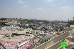 Demolition of a number of commercial structures in Jenin