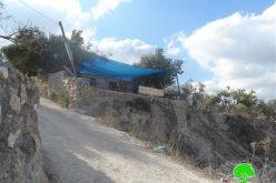 إخطار مطعم سياحي في بلدة سبسطية بوقف البناء / محافظة نابلس