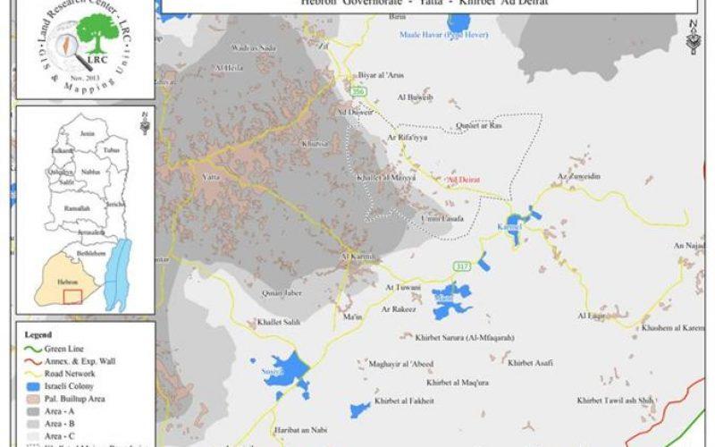 الاحتلال يصادر مواد بناء مسجد الدرات شرق يطا