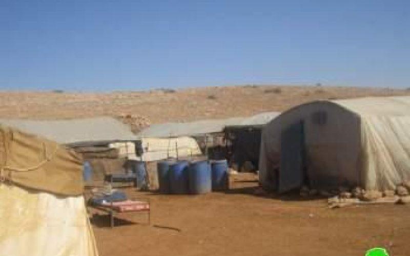 إخطار ثلاث عائلات بوقف البناء لمنشآتهم السكنية و الزراعية في الأغوار الشمالية