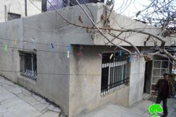 The Israeli occupation threatens to demolish a house in Hebron