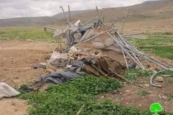 هدم ثلاثة حظائر لتربية الأغنام في قرية الجفتلك