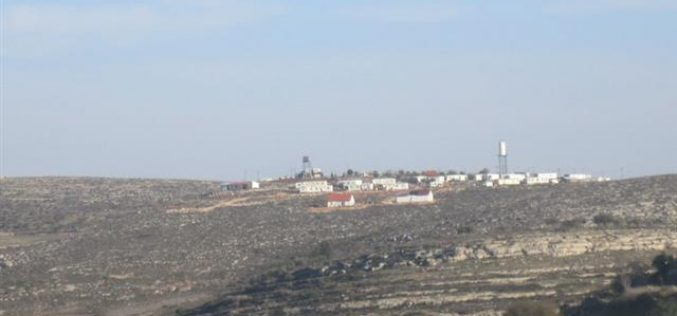 The Israeli occupation notifies land in Qusra with takeover