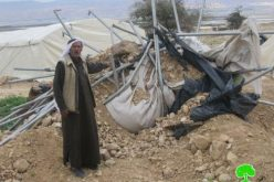 هدم عدد من الخيام والحظائر خربة كرزليا شرق بلدة عقربا /محافظة نابلس.