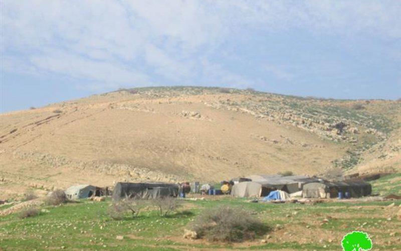 Sending five stop-work and evacuation orders to five Bedouin families