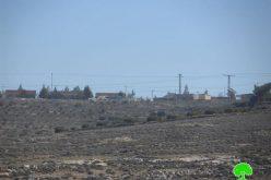 الاحتلال يخطر بوقف العمل في منشآت المواطنين بجورة الخيل شرق سعير