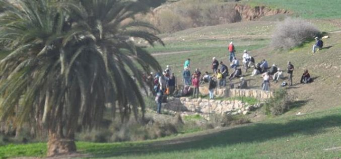 Miskiot colonists take over a water spring in Ein el-Hilweh