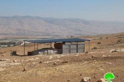Stop-work orders on structures in Khirbet Ainon-Tubas governorate
