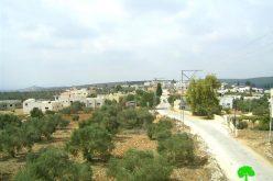 الاحتلال الإسرائيلي يسلم ثلاثة مواطنين من قرية برطعة إخطارات لوقف البناء