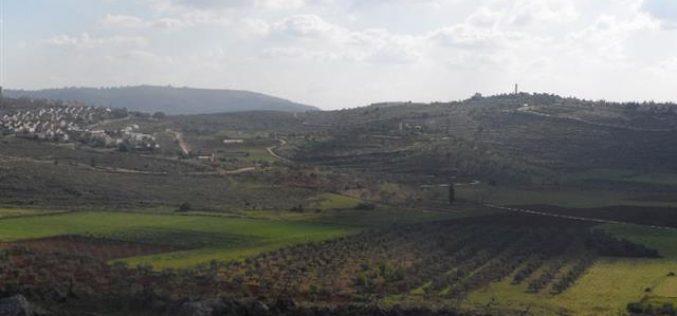 الإدارة المدنية الإسرائيلية تقرر  تغير معالم 600 دونم  من أراضي قرية جالود وبلدة ترمسعيا تمهيداً لإقامة مدينة شيلو الكبرى