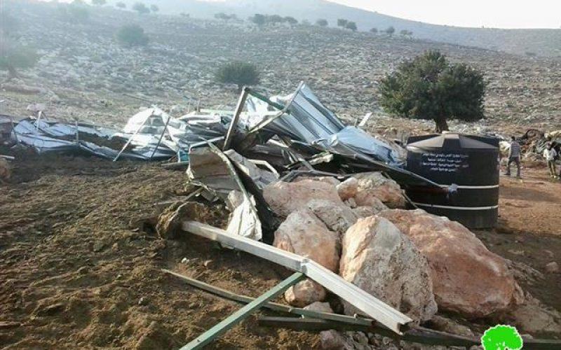 الاحتلال الإسرائيلي يهدم عدداً من المنشآت الزراعية ويصادر ممتلكات زراعية