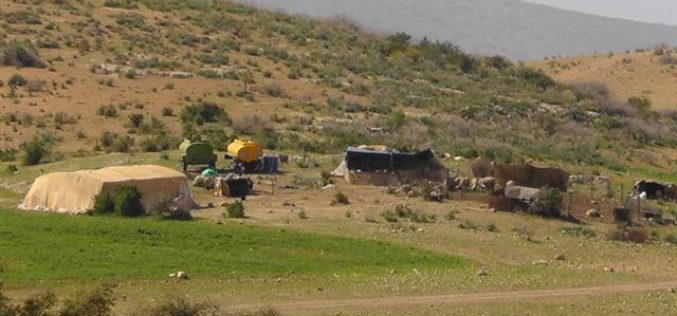 29 Bedouin families ordered to evacuate their residences in Bedouin Khirbets in the Jordan Valleys