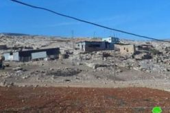 إخطار بوقف البناء لشبكة المياه  والكهرباء في خربة الطويل