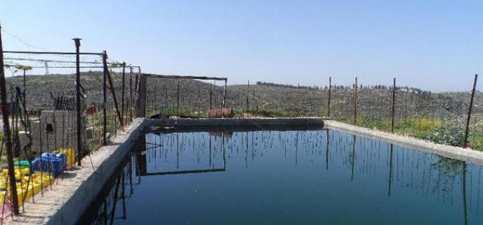 The Israeli occupation threatens to demolish a pool in Hebron