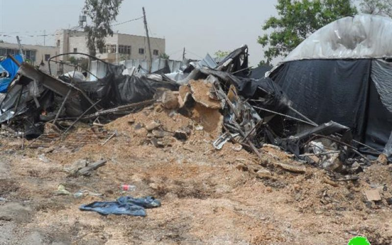 A carwash demolished in Haris village