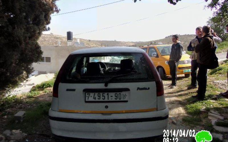 تحطيم سيارة في قرية جالود