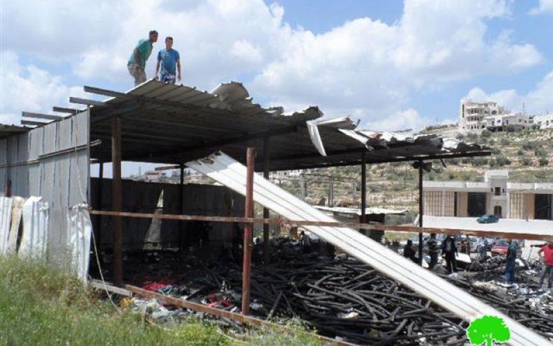 الاحتلال يجبر مواطنين على هدم بركس بأيديهم في دير سامت غرب الخليل