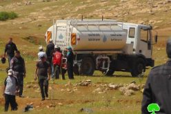 Confiscation of Mobile Water Tank in the Northern Jordan Valley