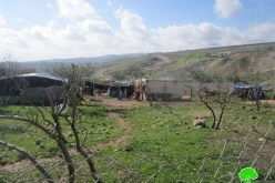 The Israeli occupation confiscates a number of tents