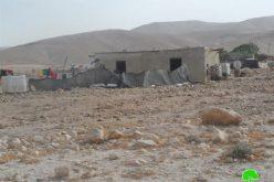 إخطار بهدم 5 بيوت سكنية في منطقة فصايل الفوقا / محافظة أريح