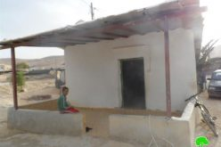 Five stop work and demolition orders to Bedouin families in Fassayel al-Fouqa