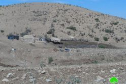 إخطار سبع عائلات في الأغوار الشمالية بوقف البناء لمنشآتهم الزراعية والسكنية