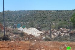 Expansion of a military checkpoint at the northern entrance of Salfit