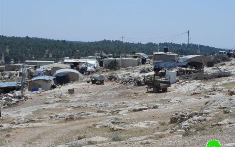 A whole community is threatened of demolition in Samu'- Hebron governorate