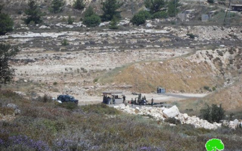 Eviction Order on a Piece of Land in Khirbet al-Nazer near Farsh al-Hawa area / Hebron Governorate