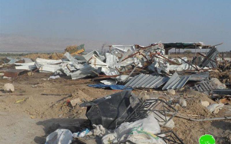 Demolition of a Bedouin Community in Al Jiftlik- Jericho Governorate