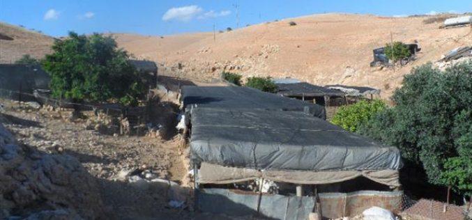 """الاحتلال الإسرائيلي يبلغ أهالي """" حمصة"""" البدوي بقرار الهدم والترحيل لتجمعهم"""