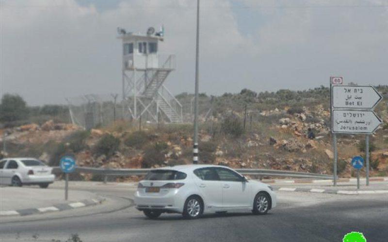 """إخطار بمصادرة أرض زراعية بمحاذاة حاجز """" زعترة"""" الاحتلالي"""