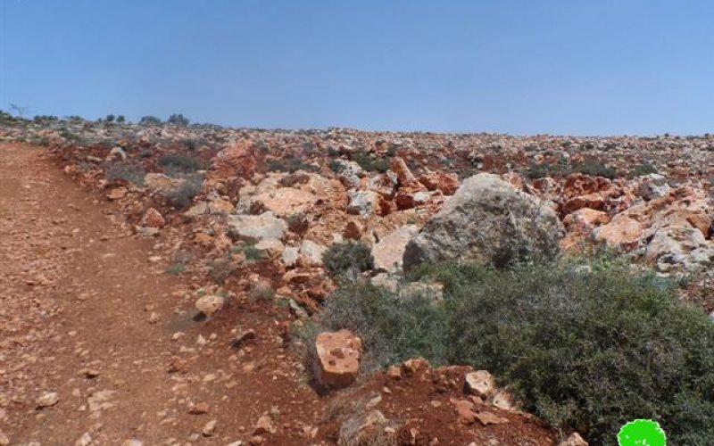 Demolition of a Retaining Wall in Qusra- Nablus