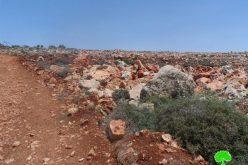 تدمير جدار استنادي في قرية قصرة  / محافظة نابلس