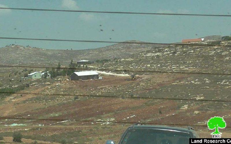 """كاميرا مركز أبحاث الأراضي ترصد أعمال التوسعة التي تشهدها مستعمرة """" عادي عاد"""" على حساب أراضي بلدة ترمسعيا"""