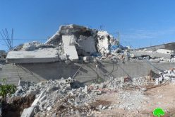 The Israeli occupation levels a house in Tulkarm