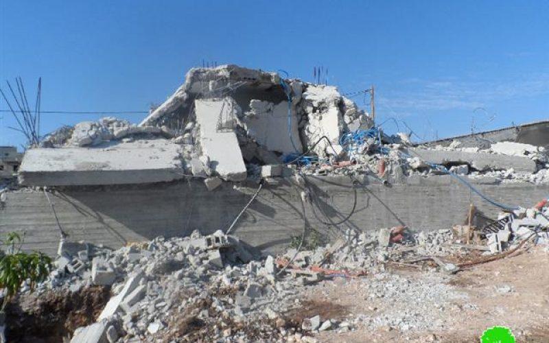 الاحتلال الإسرائيلي يهدم منزلاً في قرية فرعون / محافظة طولكرم