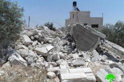الاحتلال يهدم منزلاً في بلدة إذنا غرب الخليل