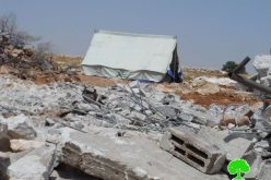 """الاحتلال يهدم مساكن المواطنين في """" خلة الفرن """" قرب بلدة يطا"""