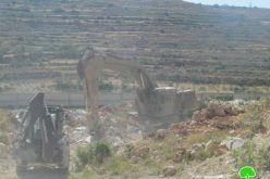 The Israeli occupation demolishes  different structures in Bethlehem