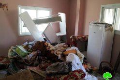 جيش الاحتلال يسرق مبالغ نقدية كبيرة من أحد المساكن أثناء اقتحامه قرية مادما / محافظة نابلس