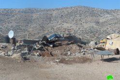 الاحتلال الإسرائيلي يهدم عدداً من المنشآت الزراعية والسكنية في قرية العقبة