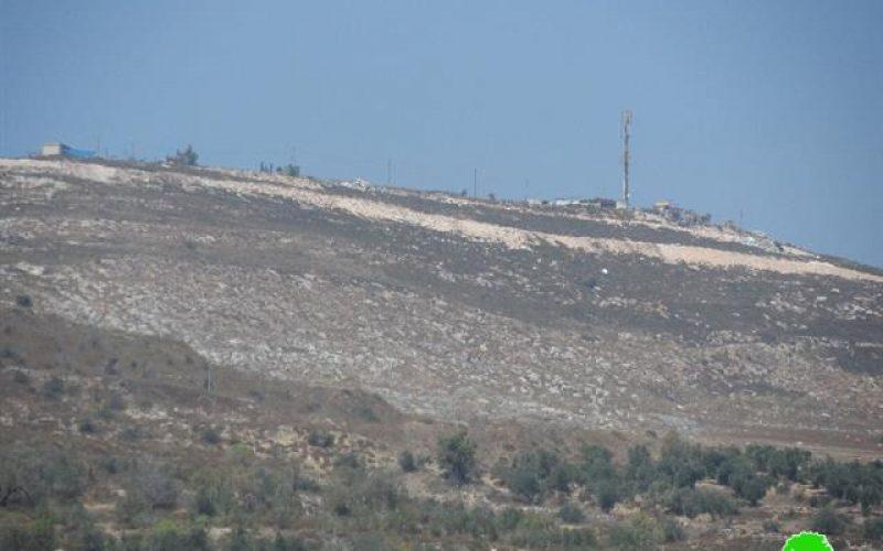 """أعمال توسعة تشهدها مستعمرة """" براخا"""" على أراض قرية  بورين"""