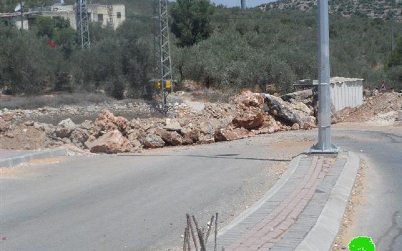 جيش الاحتلال يغلق مدخل بلدة دير ستيا الغربي