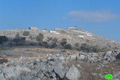 """حرق مراعي وأشجار زيتون في المناطق المصنفة """"ب""""  في قرية بورين / محافظة نابلس"""