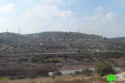 """إخطار بوضع اليد على أراض شرق محافظة قلقيلية لصالح مستعمرة """" معاليه شمرون"""""""