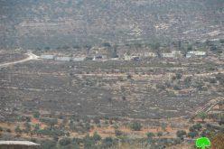 كاميرا مركز أبحاث الأراضي ترصد إقامة بؤرة استعمارية جديدة تابعة لمستعمرة رحاليم