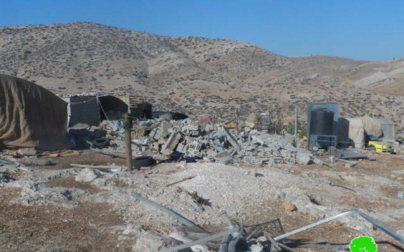Three residential rooms demolished in Al Aqaba