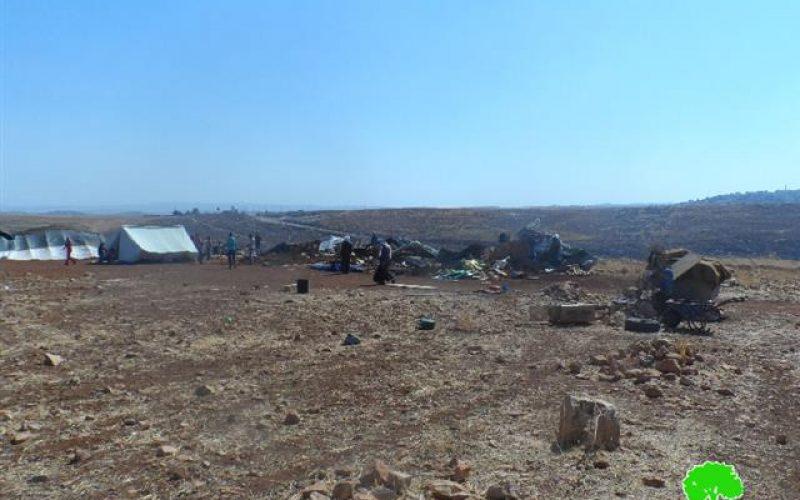 Six tents and a barn demolished in Ramallah
