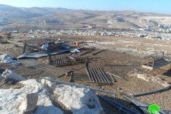 الاحتلال الإسرائيلي يشرد 6 عائلات بدوية بعد أن هدم منشآتهم السكنية والزراعية في منطقة عرب الهذالين –  قرية جبع / محافظة القدس